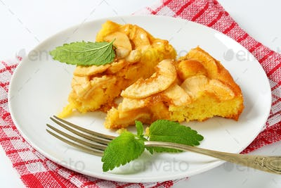 slices of apple sponge cake