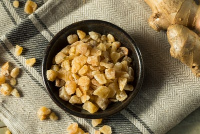 Sweet Organic Crystallized Ginger Candy