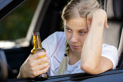 depressed woman drunk driving