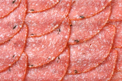 slices of spicy salami