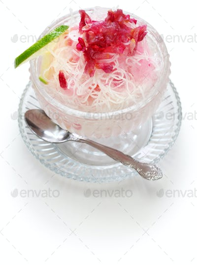 faloodeh, traditional iranian cold dessert