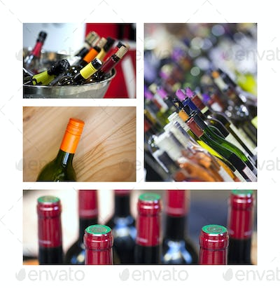 Collage of bottles