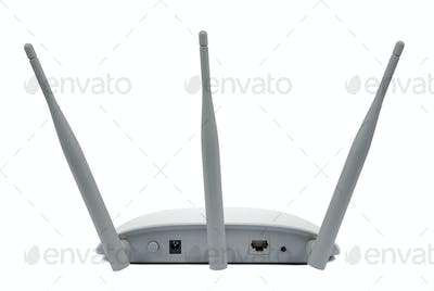 Access point device isolated on white background