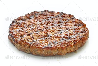 Grilled burger meat