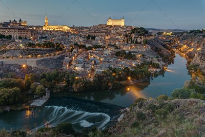 View of Toledo in Spain with the Tagus river