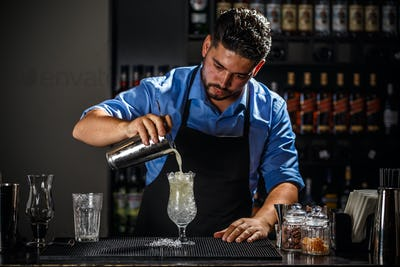 Barman with shaker