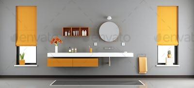 Modern bathroom with washbasin
