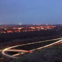 Road With Light Trails