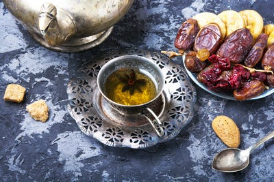 tea with oriental sweets