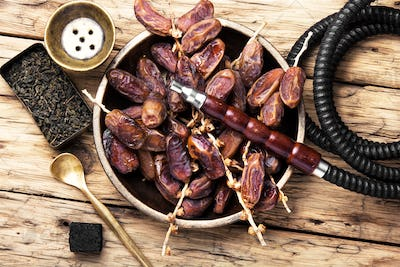 oriental nargile with dates