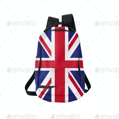 Backpack with flag of UK