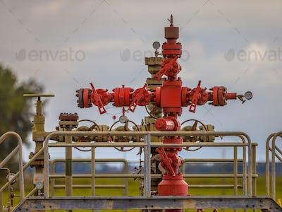 Gas field station well head