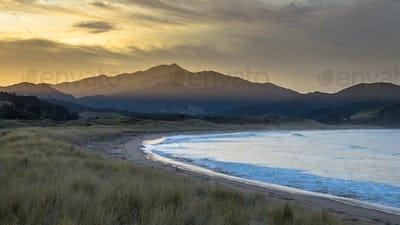 Beautiful Waikawau Bay Sunset New Zealand