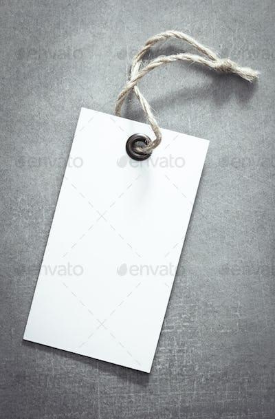 price tag label