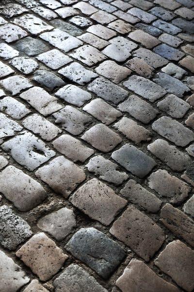 Background of cobblestones