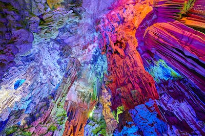 The Reed Flute Cave in Guilin, China.