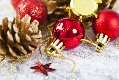 Closeup on Chrismas decorations