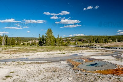 Boardwalk in Yellowstone National Park