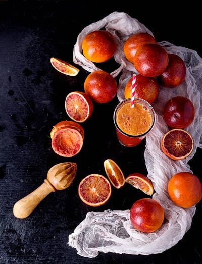 Sicilian half blood oranges
