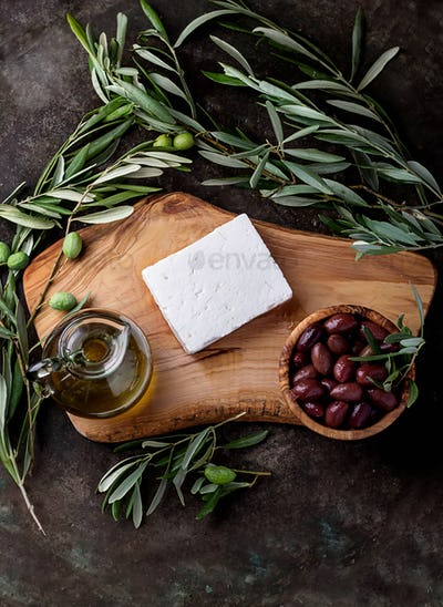 Greek Mezze Olives and Feta