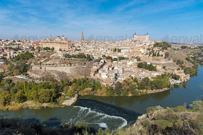 View of Toledo with the river Tagus