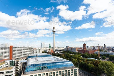 Berlin city skyline with Red City Hall
