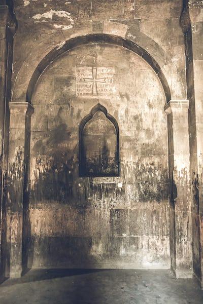 Interior of Khor Virap ancient Monastery
