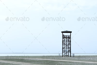 Alone observant tower
