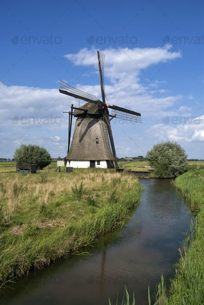The Oude Doornse windmill near Almkerk in the Dutch province Noord-Brabant