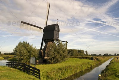 Noordeveldse mill near Dussen in the municipality Werkendam in the Dutch province Noord-Brabant