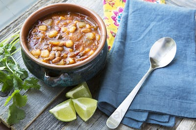 Posole with Lime Horizontal