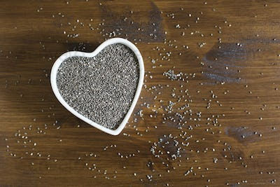 Heart Healthy Chia Seeds Horizontal