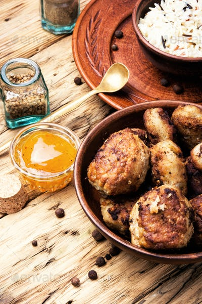 meat homemade cutlets