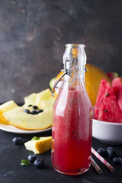 fruit smoothies melon watermelon