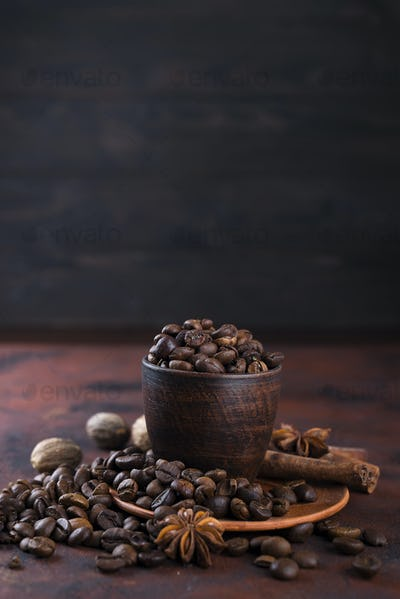 coffe beens with spices