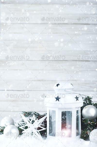 Christmas white lantern