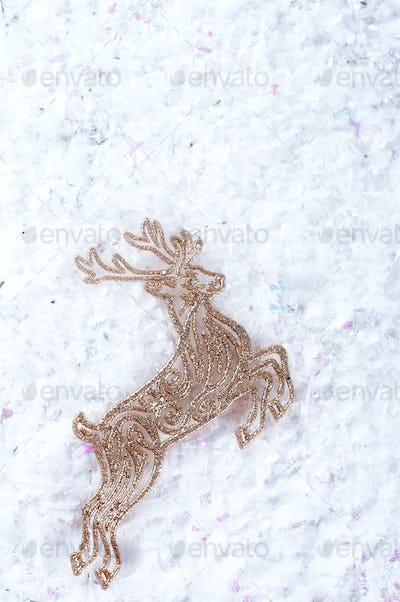 Decorative gold deer