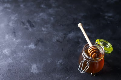 Honey in a pot or jar
