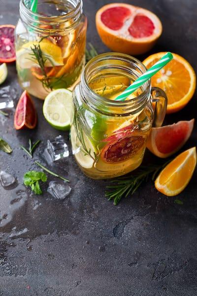 orange lemonade on a jar