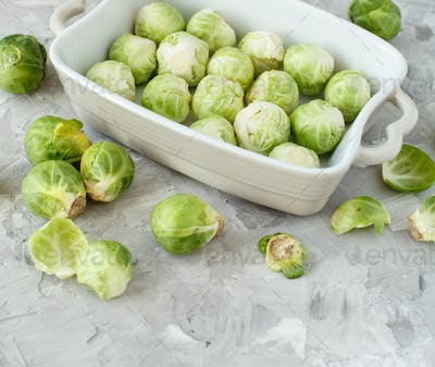 Brussels sprouts  in a casserole