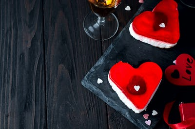 Birthday cake for Valentine's Day