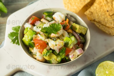 Raw Homemade Shrimp Ceviche