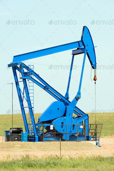 Texas Oil Pump Jack Fracking Crude Extraction Machine