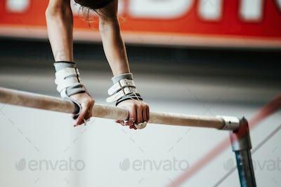 hands young girl gymnast