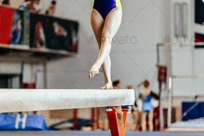 young girl athlete gymnast