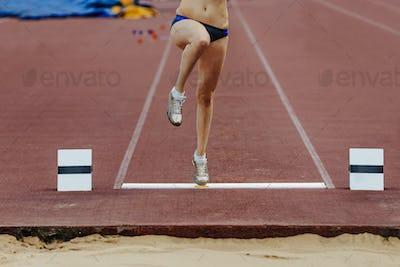takeoff board and leg athletes women