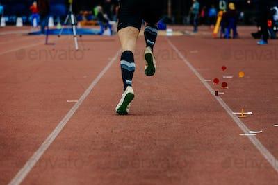back running on track jumper athlete
