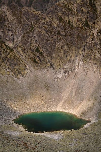 Photo of beautiful lake in High Tatra Mountains, Slovakia, Europe