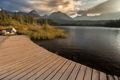 Great view on High Tatra Mountains from Strbske pleso