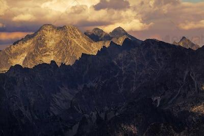 View on high Tatra Mountains